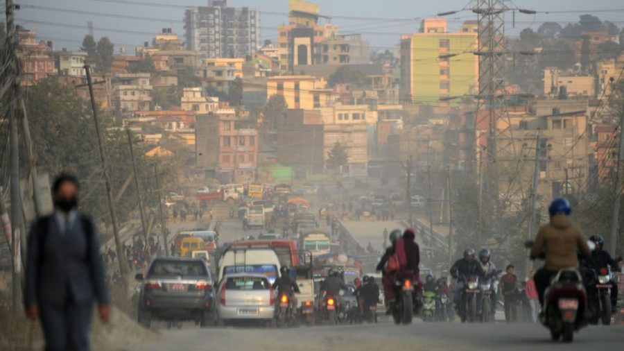 NEPAL-POLLUTION-TRANSPORT