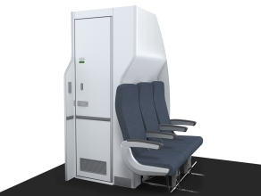 New 737 lavatory by Rockwell Collins Source: Rockwell Collins